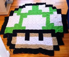 1-Up Mario Afghan Blanket by gabberoo on deviantART