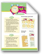 Math Games (Grades K-1): Tic Toc Cover-Up (Tells Time to the Hour). Download it at Examville.com - The Education Marketplace. #scholastic #kidsbooks @Karen Echols #teachers #teaching #elementaryschools #teachercreated #ebooks #books #education #classrooms #commoncore #examville