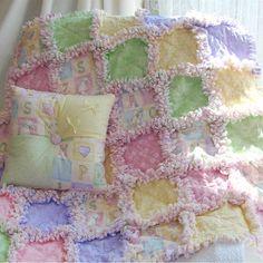 ABC Pastel Baby Rag Quilt