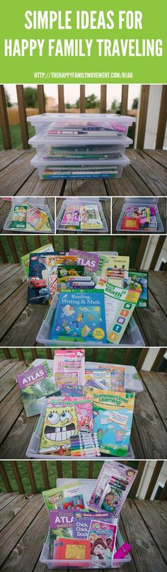 Simple Ideas for Happy Family Traveling – Road Trippin' Car Packs by thehappyfamilymovement #Kids #Activities #Road_Trip