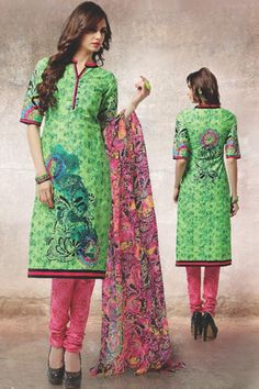 Green Cotton Salwar Kameez with Printed - Z2555PKHOOBSURAT-06-A-99 #causalwear #officewear #salwar #kameez @ http://zohraa.com/salwar-kameez/suits-dresses/casual.html #celebrity #zohraa #onlineshop #womensfashion #womenswear #bollywood #look #diva #party #shopping #online #beautiful #beauty #glam #shoppingonline #styles #stylish #model #fashionista #women #lifestyle #fashion #original #products #saynotoreplicas