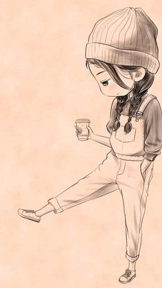 Girl Drawing Sketches, Girly Drawings, Art Drawings Sketches Simple, Pencil Art Drawings, Disney Drawings, Cartoon Drawings, Drawing Drawing, Easy Drawings, Drawing Disney
