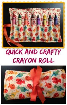 Quick and crafty crayon roll to sew. Very simple and ideal as a first sewing project. ~ So Sew Easy