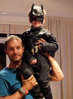 Is this coolest dad ever? I think so. Tom Hardy