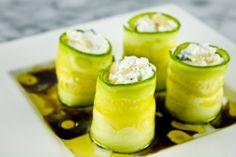 Ricotta-Stuffed Zucchini Rolls - olive oil recipes