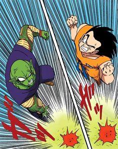 Piccolo and Goku heading to fight Raditz