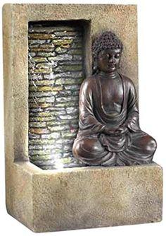 Feng Shui Home: the Many Faces of Buddha: Peaceful Zen Buddha Fountain: Calming Feng Shui Water Energy for Your Home