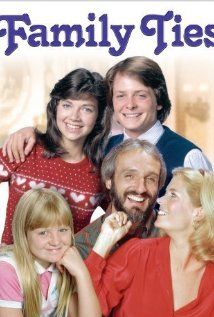 Family Ties (1982)...Chronicles liberal ex-hippies Steven and Elyse Keaton, their conservative son Alex, daughters Mallory and Jennifer, and later, youngest child Andrew.