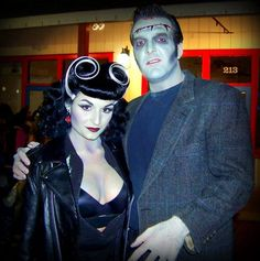 Maybe one day Steve will agree to one of my couple Halloween costume ideas.Frankenstein & bride: Rockabilly style
