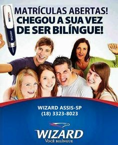 É muito fácil fazer sua matrícula e ganhar sua WIZPEN a caneta que fala inglês, francês, espanhol e Chinês da WIZARD.