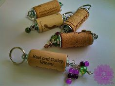 The SweetTalk Shop: DIY   Wine Cork Key Chains