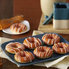 What can make a fluffy baked doughnut even more irresistible? Dipping it in a rich glaze made from limited edition pumpkin spice Candy Melts candy! These doughnuts will be the envy of all at bake sales and progressive brunches.