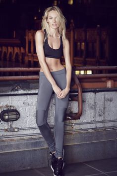 Candice Swanepoel for THE UPSIDE → 'Bar Crop' & 'Prana Pant' available at www.theupsidesport.com