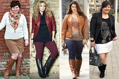 Plus Size Fall Winter 2013 Fashion Trend with Boots
