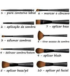 Kit de Pincéis para Maquiagem