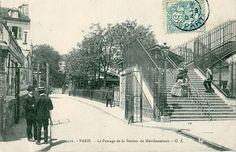 1862 - La petite Ceinture de Paris - Le Passage de la station de Ménilmontant / Paris 20ème