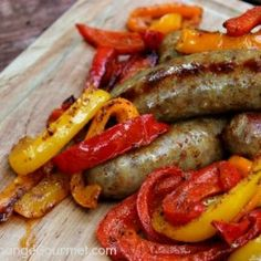 Grilled Peppers and Italian Sausage.thumb