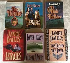 Lot of 6 Janet Dailey Romance Hardcover Books~The Rouge~Ride The Thunder~& More