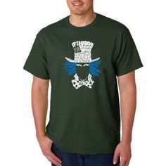 Los Angeles Pop Art Men's T-shirt - The Mad Hatter, Size: Medium, Green