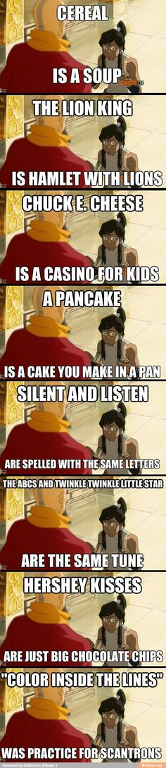 Lol the legend of Korra.