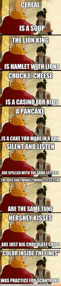 Lol the legend of Korra.