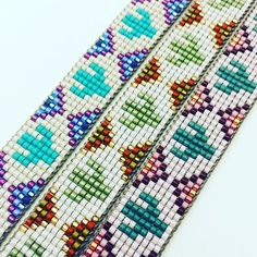 Handcrafted Seed Bead Loom Jewelry made with love by EdenRainBeadworks Loom Bracelet Patterns, Seed Bead Patterns, Bead Loom Bracelets, Beaded Jewelry Patterns, Beading Patterns, Mosaic Patterns, Painting Patterns, Bracelet Designs, Silver Bracelets