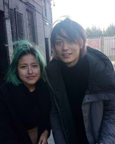 「Me and Toru from ONE OK ROCK and our sexy hairstyles! #35xxxv #OneOkRock」