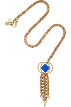 Lulu Frost|Althea crystal tassle necklace|