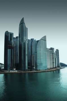I'Park and Zenith skyscrapers in Haeundae, Busan, South Korea.