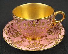 Antique Coalport tea cup and saucer, late century Vintage Cups, Vintage China, China Tea Cups, Teapots And Cups, My Cup Of Tea, Tea Cup Saucer, Tea Time, Vases, 19th Century