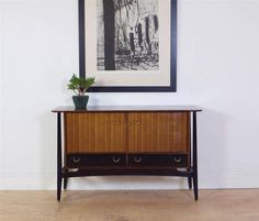 Stunning 1950's E Gomme for G Plan Sideboard in Walnut, Tola and Black in Antiques, Antique Furniture, Sideboards