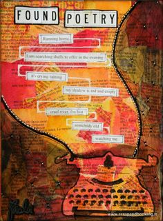 Sketch Book Art Journal - Found poetry I love text with art together Kristina Webb, Art Inspo, Art Journal Inspiration, Poetry Journal, Art Journal Pages, Art Journaling, Alphonse Mucha, Poetry Examples, Erasure Poetry