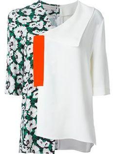 asymmetric floral blouse $761 #Farfetch #womensfashion #DesigerClothing