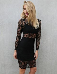 Tiger Mist Addicted To Lace Dress Black