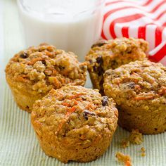 Clean Eating Carrot Oatmeal Muffins - 4SP (no nuts)