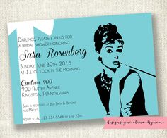 Audrey Hepburn Breakfast at Tiffanys PRINTABLE Invitations