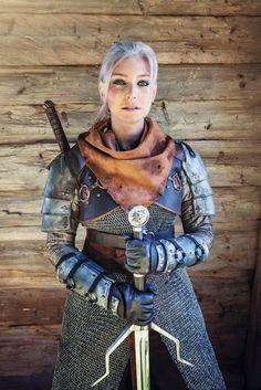 Ta Alžběta Cosplay The Witcher 3 Wild Hunt Wiedźmin 3 Dziki Gon Geralt