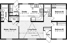 floor plan 25 x 40 Pole Barn House Plans, Cottage Floor Plans, Cabin Floor Plans, Pole Barn Homes, Cottage Plan, Garage Plans, Best House Plans, Dream House Plans, Small House Plans