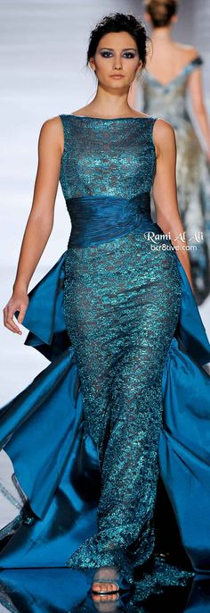 The Romance of Rami Al Ali. I do like this gown. It is such a vibrant color.