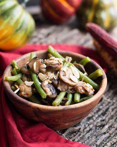 One Pan Green Beans, Mushrooms and Shallots