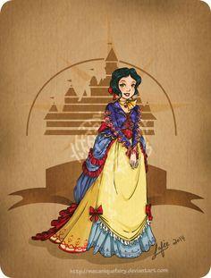 Disney steampunk: Snow-white by MecaniqueFairy on DeviantArt
