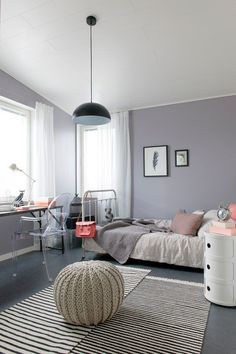 Pale grey girls bedroom                                                                                                                                                     More