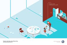 illustrated print campaign for Volkswagen (with DDB)