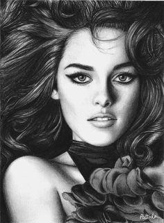 Kristen Stewart drawing by Pattida Panyakaew