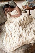 Paris Faux Fur Throw - Soft Surroundings $99