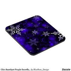 Chic Amethyst Purple Snowflake Motif Beverage Coaster Beer Mugs, Coffee Mugs, Custom Coasters, Christmas Items, Drink Coasters, Holiday Treats, Christmas Card Holders, Hand Sanitizer, Decorating Your Home