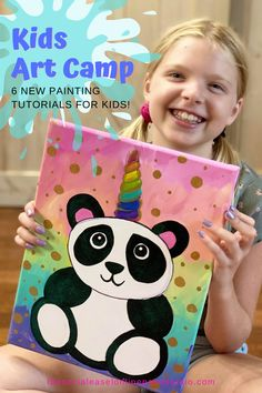 Easy to follow Online Video Painting Tutorials for Kids! These Art Lessons for Kids are perfect for all the moms out there who need something fun and creative for their kids! Step-by-Step Acrylic Painting Video Tutorial for Kids #kidpaintingideas #thesocialeaselonlinepaintstudio #learntopaint Kid Painting Ideas Kids Activities Kids Art Party Painting Tutorials Kids Art Projects Learn How to Paint for Beginners Kid Craft Ideas Kids Camp Activities Easy Acrylic Painting on Canvas Acrylic Painting