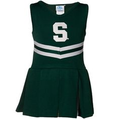 Michigan State Spartans Youth Girls Green Cheerleader Dress-