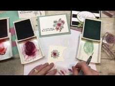 """Coffee and a """"Beautiful you"""" watercolored card Stampin' Up! products - YouTube"""