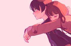 Cute Couple Drawings, Anime Couples Drawings, Anime Couples Manga, Anime Couples Hugging, Manga Couple, Anime Love Couple, Cute Love Couple, Couple Cartoon, Anime Chibi